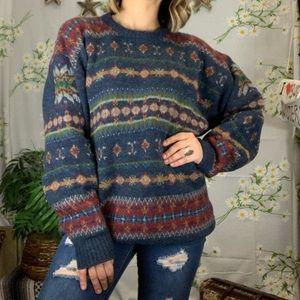 Woolrich colorful fair isle sweater